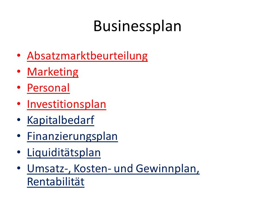 Businessplan Absatzmarktbeurteilung Marketing Personal