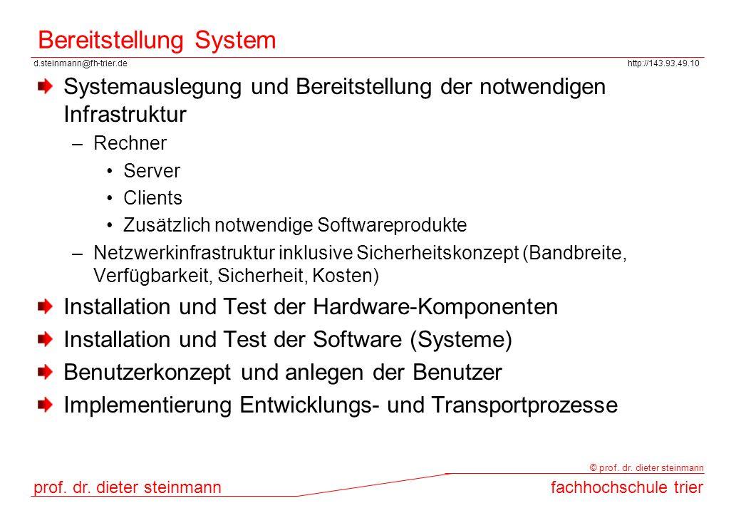 Bereitstellung System