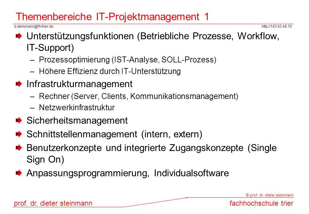 Themenbereiche IT-Projektmanagement 1