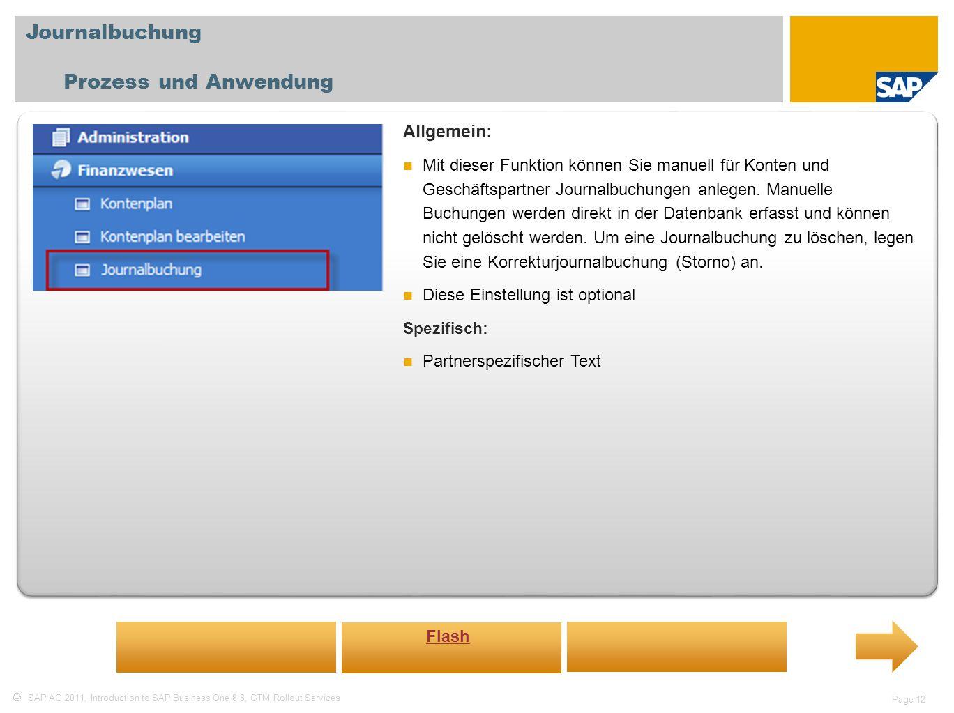 Journalbuchung Prozess und Anwendung Allgemein: