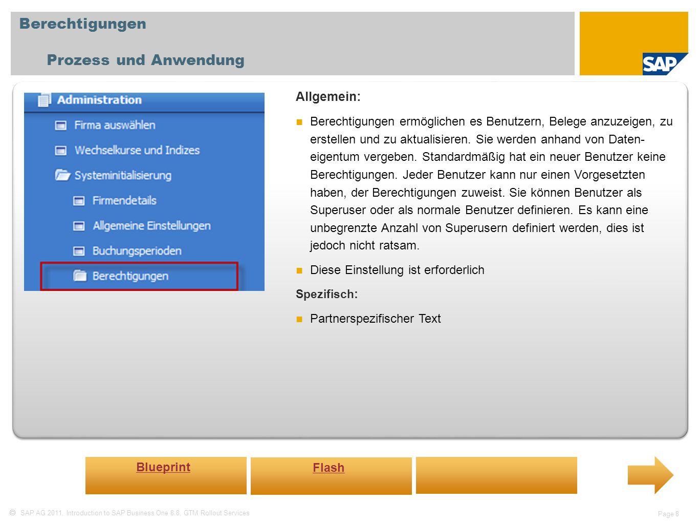 Berechtigungen Prozess und Anwendung Allgemein: