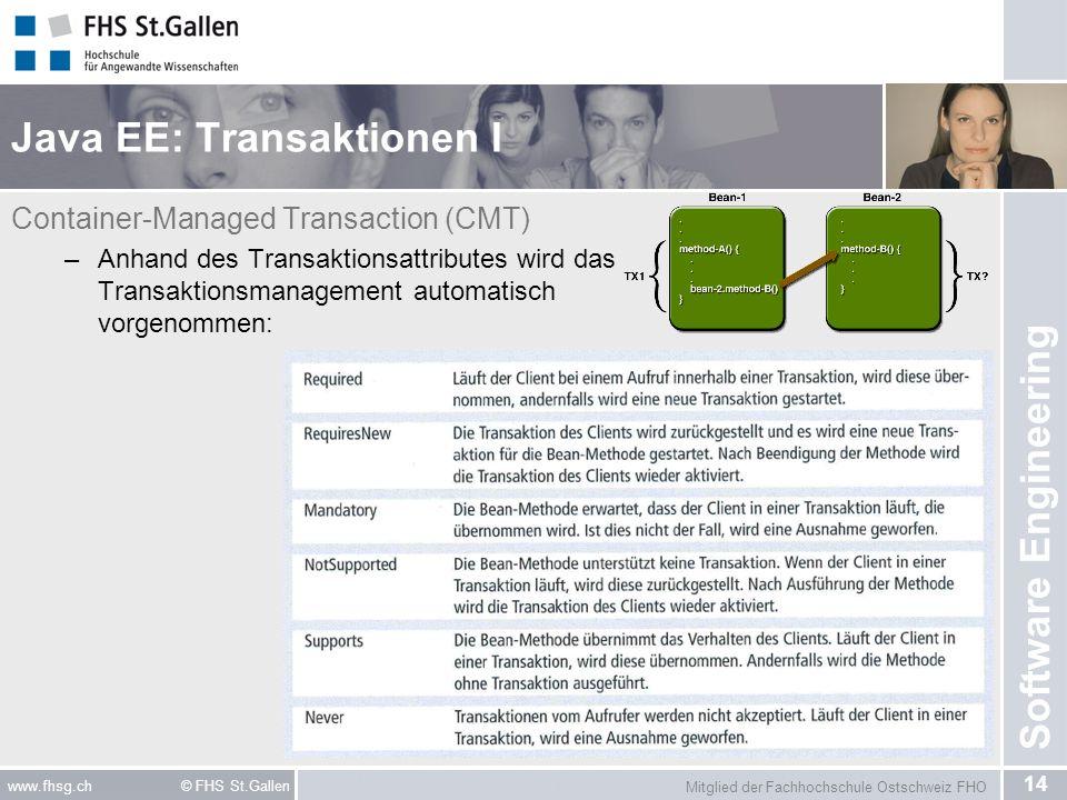 Java EE: Transaktionen I