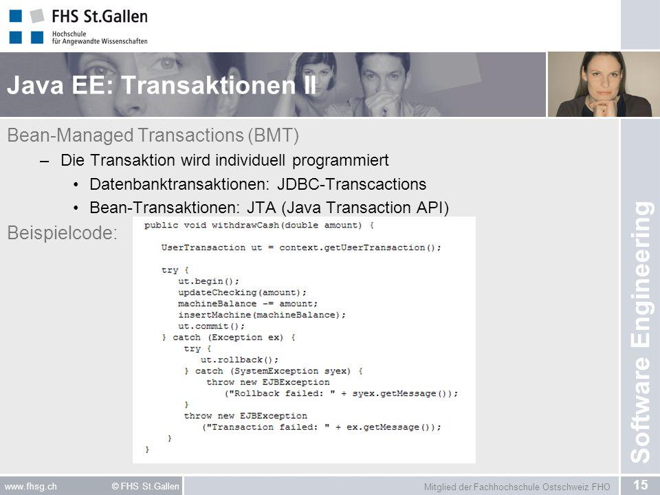 Java EE: Transaktionen II