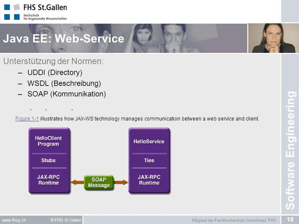 Java EE: Web-Service Unterstützung der Normen: UDDI (Directory)