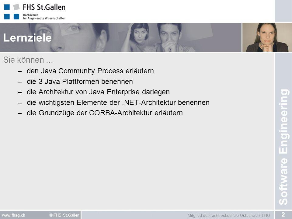 Lernziele Sie können ... den Java Community Process erläutern