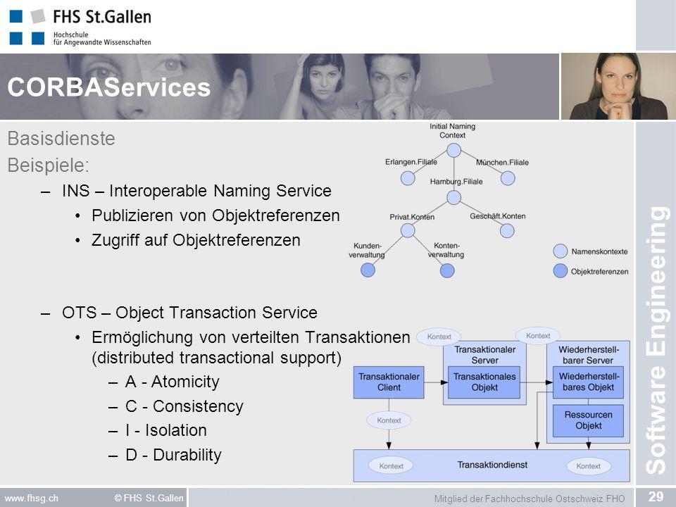 CORBAServices Basisdienste Beispiele: