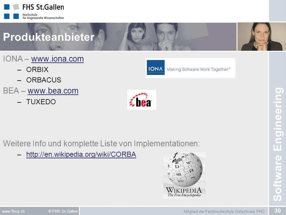 Produkteanbieter IONA – www.iona.com BEA – www.bea.com