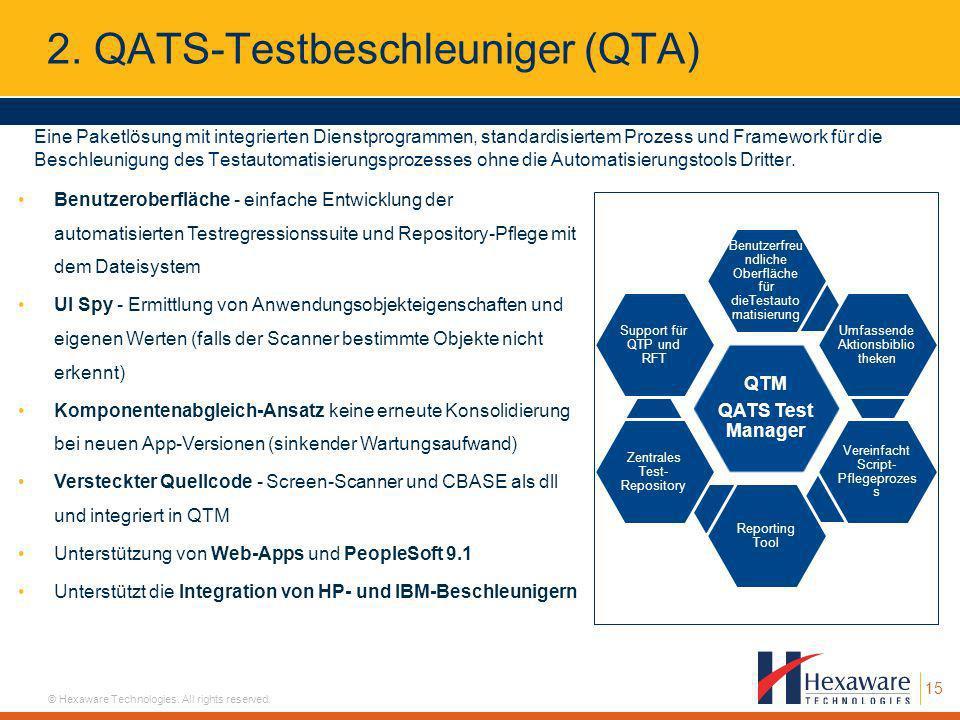 2. QATS-Testbeschleuniger (QTA)