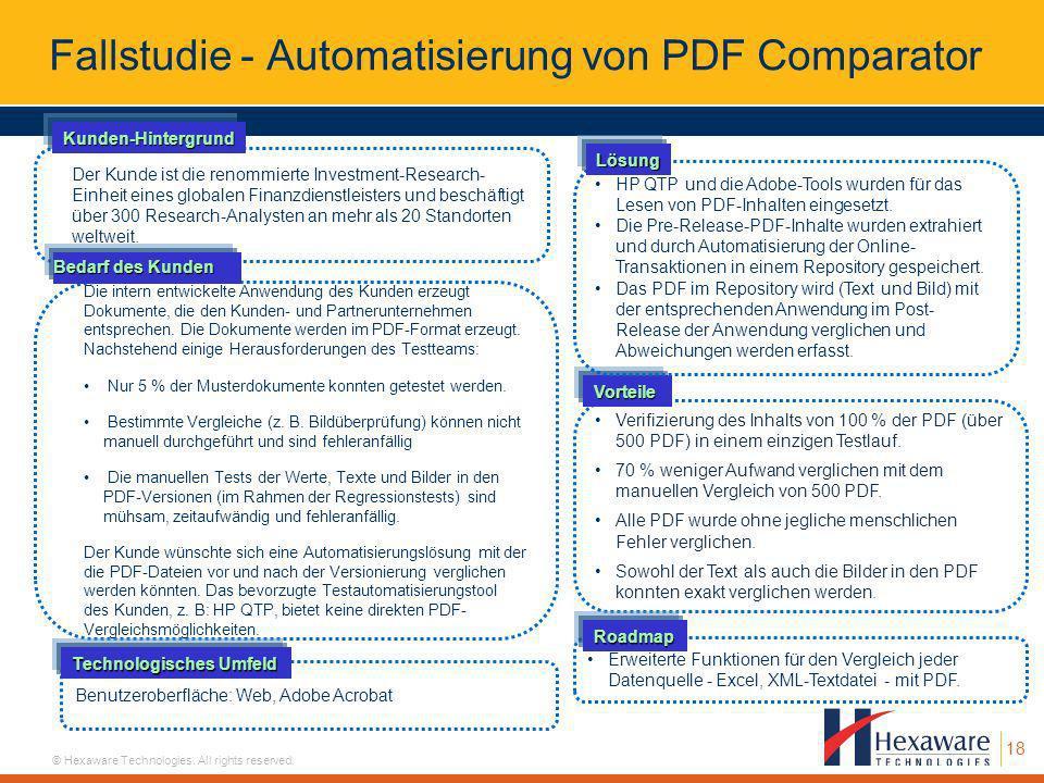Fallstudie - Automatisierung von PDF Comparator