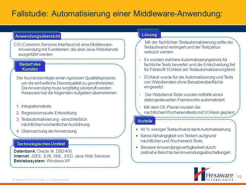 Fallstudie: Automatisierung einer Middleware-Anwendung:
