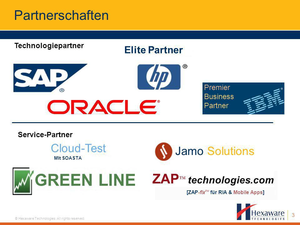 GREEN LINE Partnerschaften ZAP™ technologies.com Cloud-Test