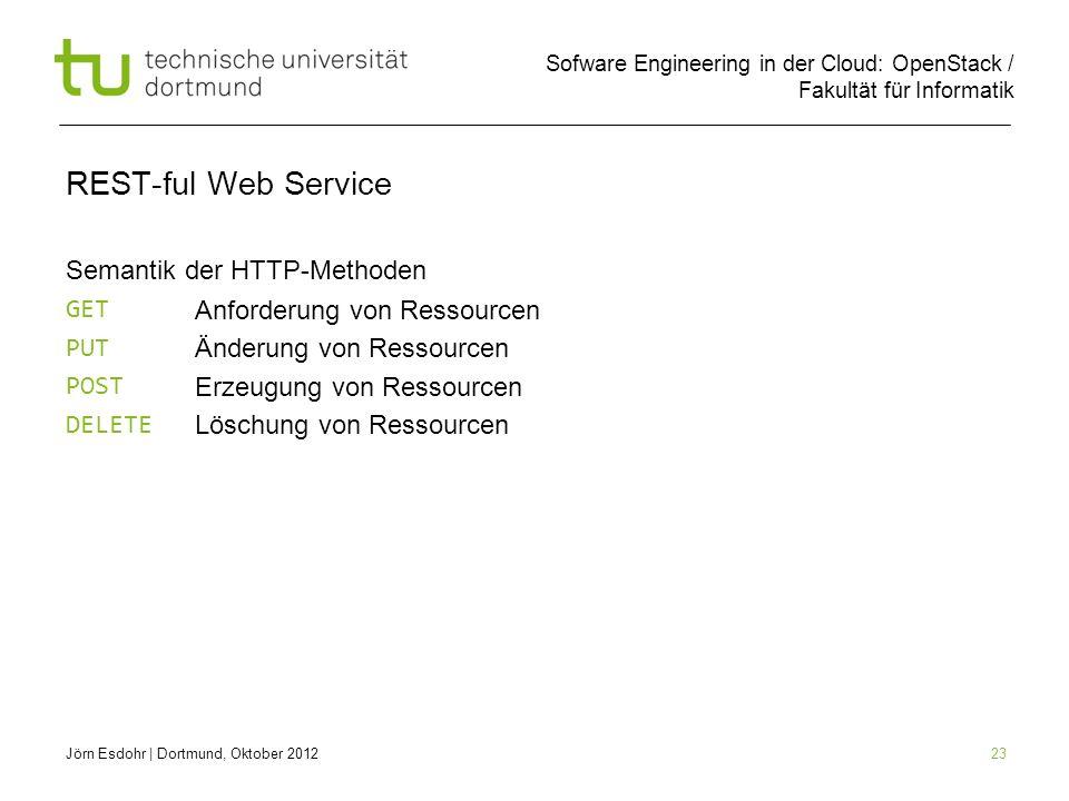 REST-ful Web Service Semantik der HTTP-Methoden GET PUT POST DELETE