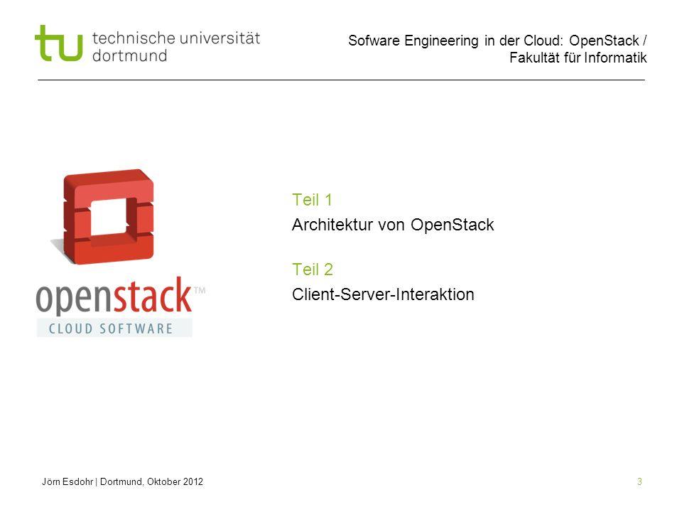 Teil 1 Architektur von OpenStack Teil 2 Client-Server-Interaktion