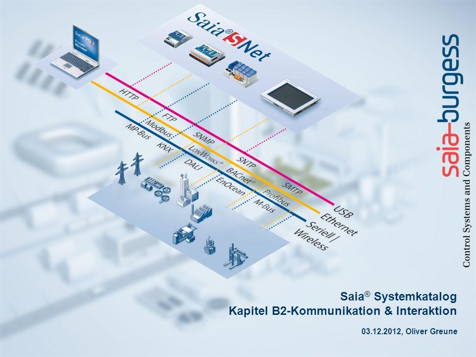 Saia® Systemkatalog Kapitel B2-Kommunikation & Interaktion
