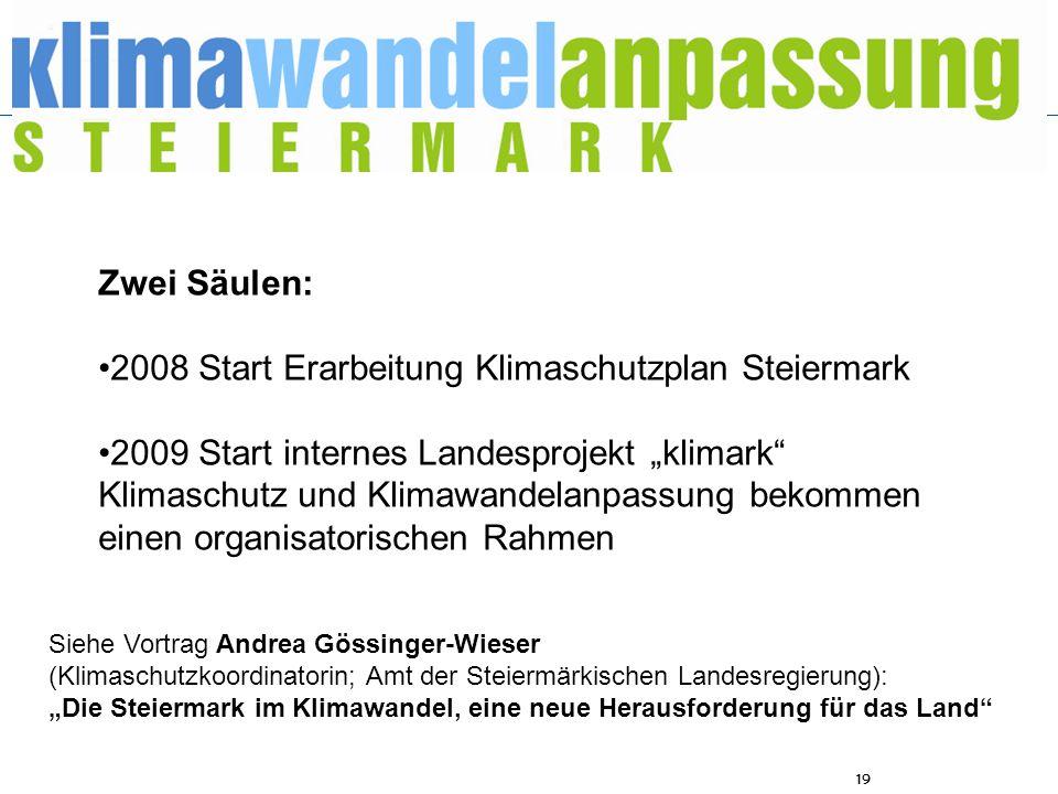 •2008 Start Erarbeitung Klimaschutzplan Steiermark