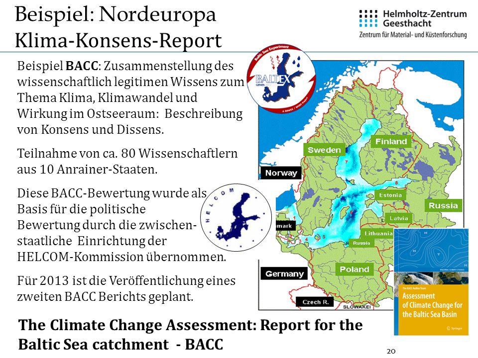 Beispiel: Nordeuropa Klima-Konsens-Report