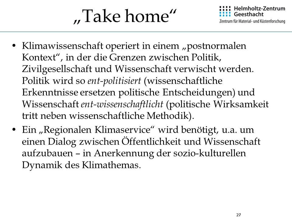 """""""Take home"""