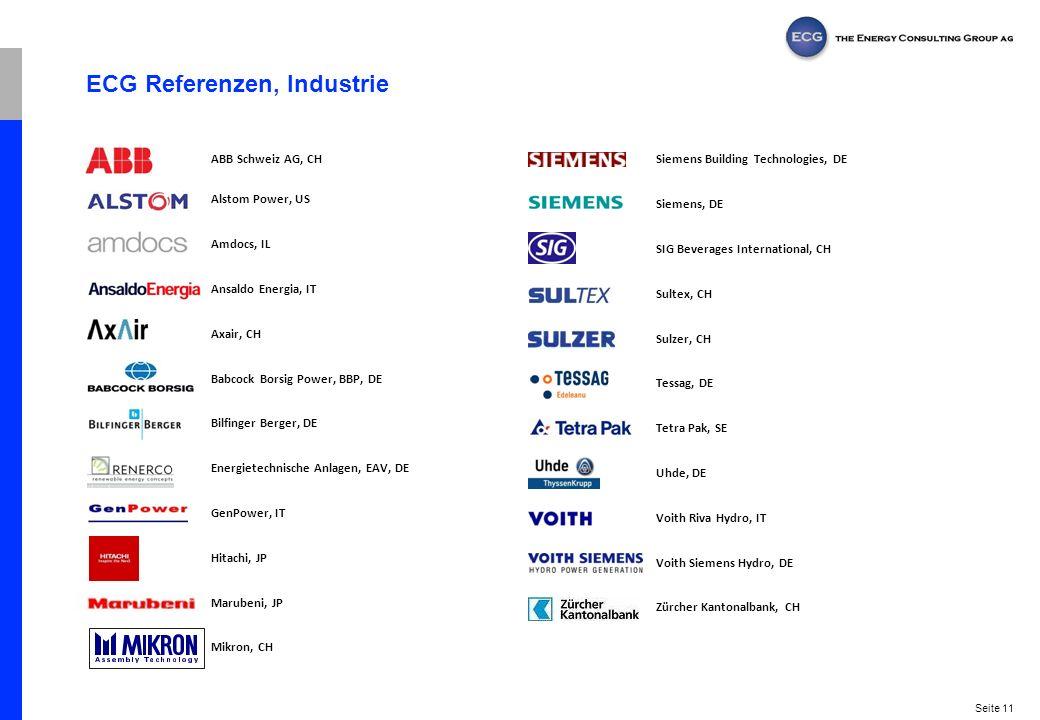 ECG Referenzen, Industrie