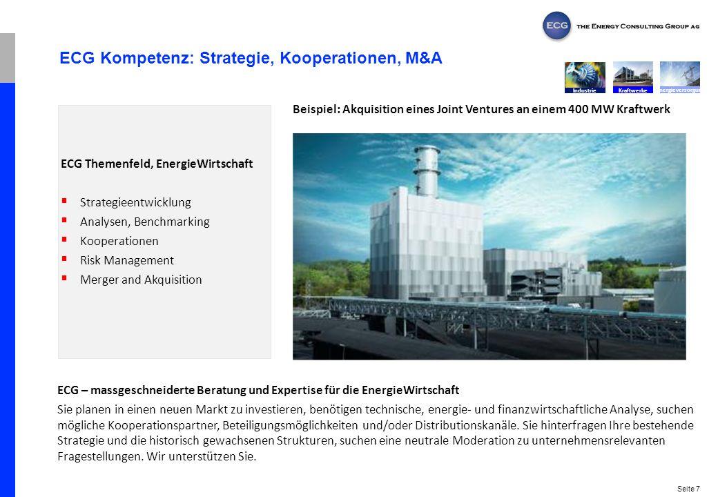 ECG Kompetenz: Strategie, Kooperationen, M&A