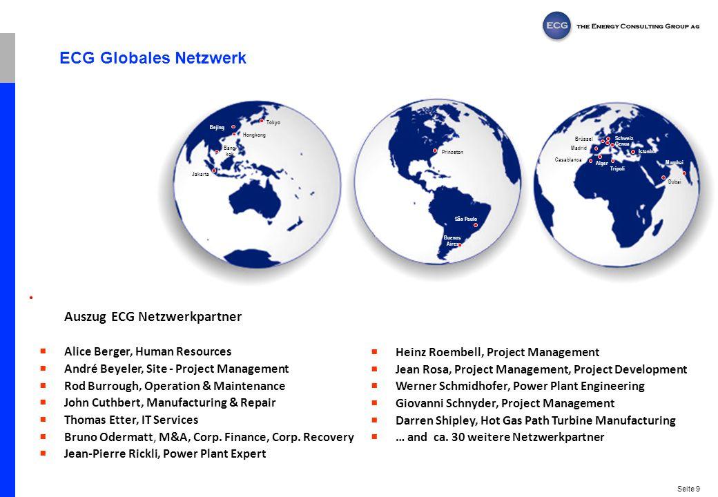 ECG Globales Netzwerk Auszug ECG Netzwerkpartner