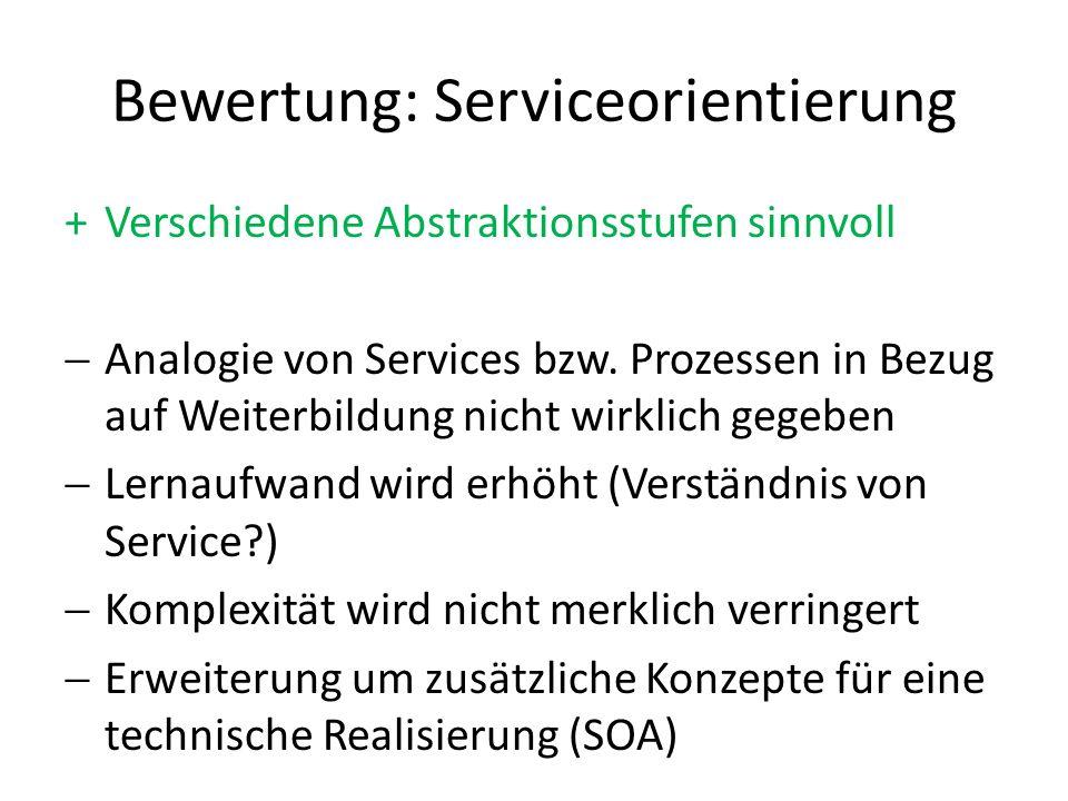 Bewertung: Serviceorientierung
