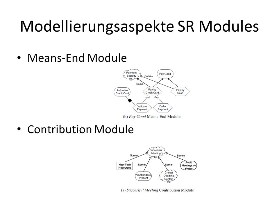 Modellierungsaspekte SR Modules