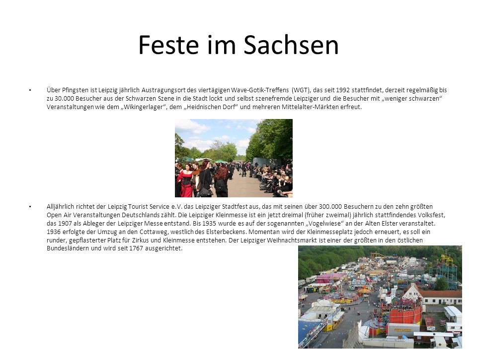 Feste im Sachsen