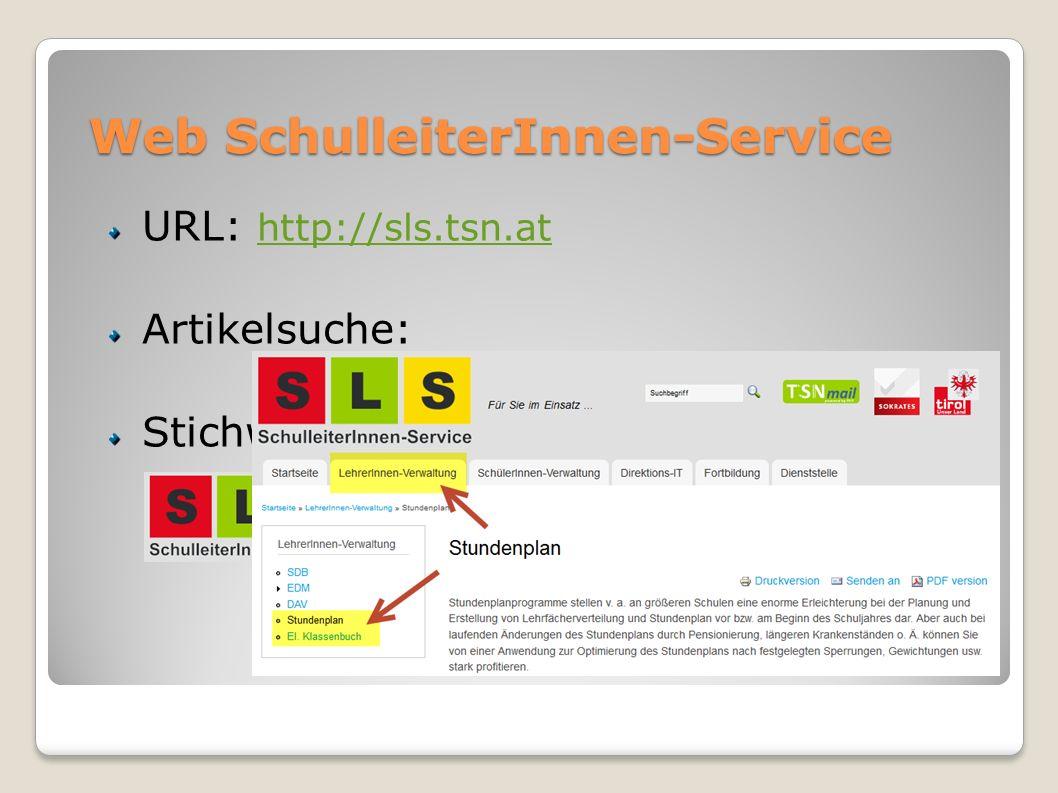 Web SchulleiterInnen-Service