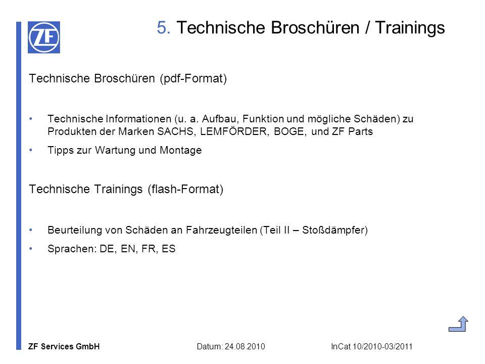 5. Technische Broschüren / Trainings