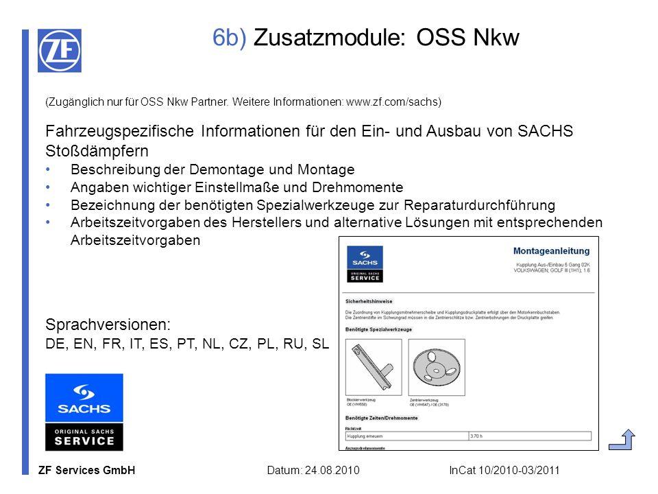 6b) Zusatzmodule: OSS Nkw
