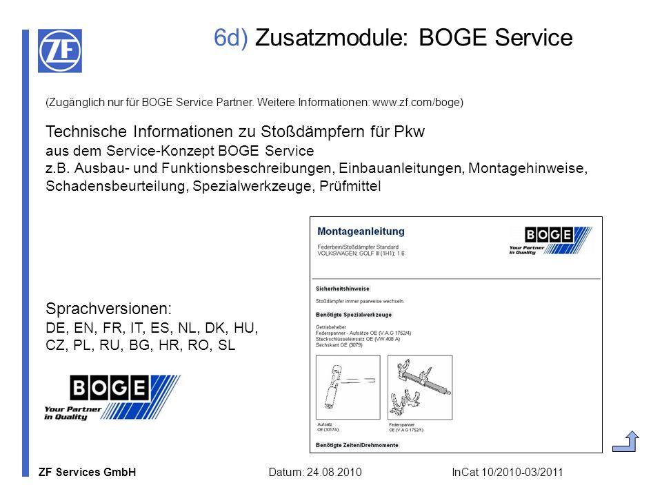 6d) Zusatzmodule: BOGE Service