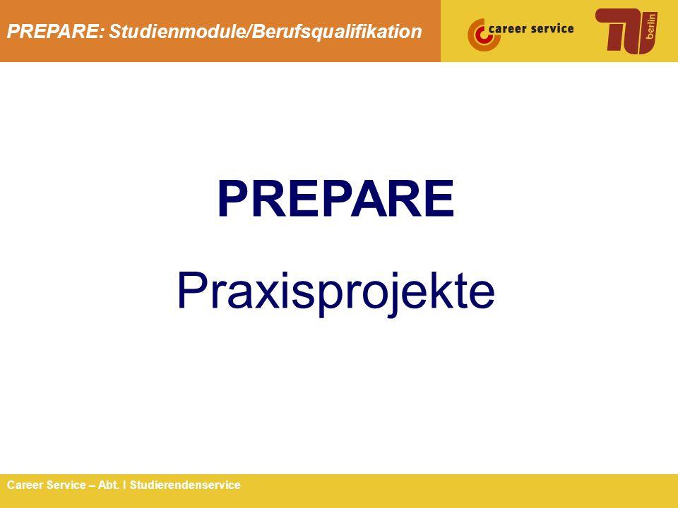 PREPARE Praxisprojekte