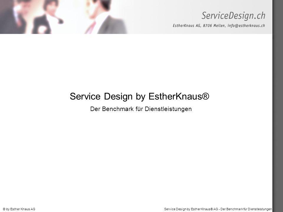 Service Design by EstherKnaus® Der Benchmark für Dienstleistungen