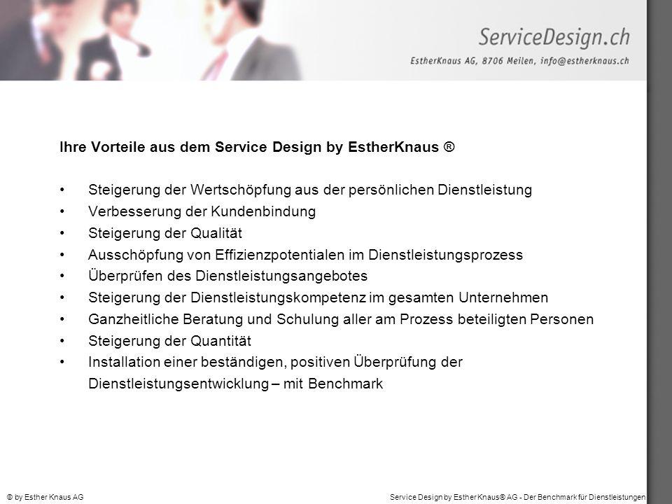 Ihre Vorteile aus dem Service Design by EstherKnaus ®