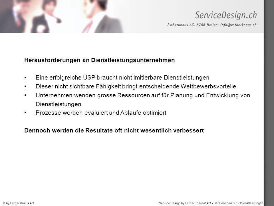Herausforderungen an Dienstleistungsunternehmen