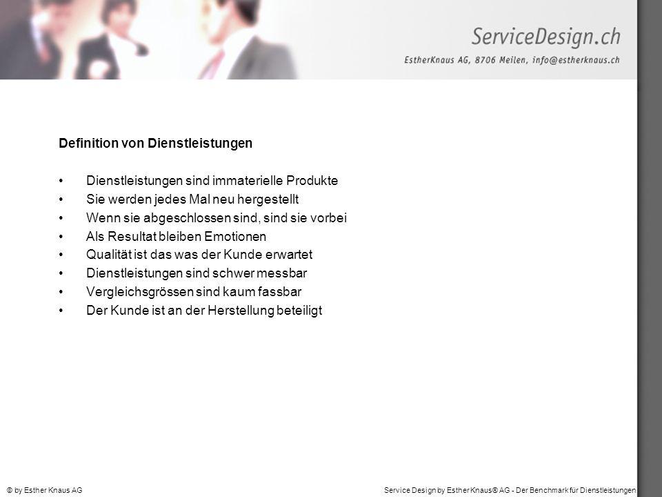 Definition von Dienstleistungen