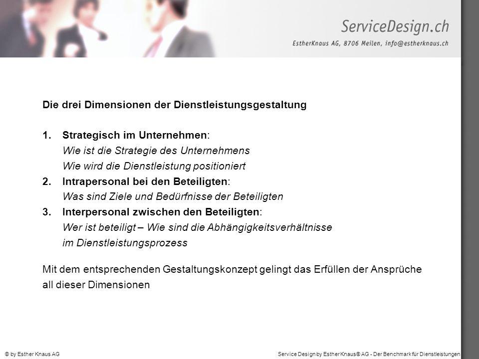 Die drei Dimensionen der Dienstleistungsgestaltung