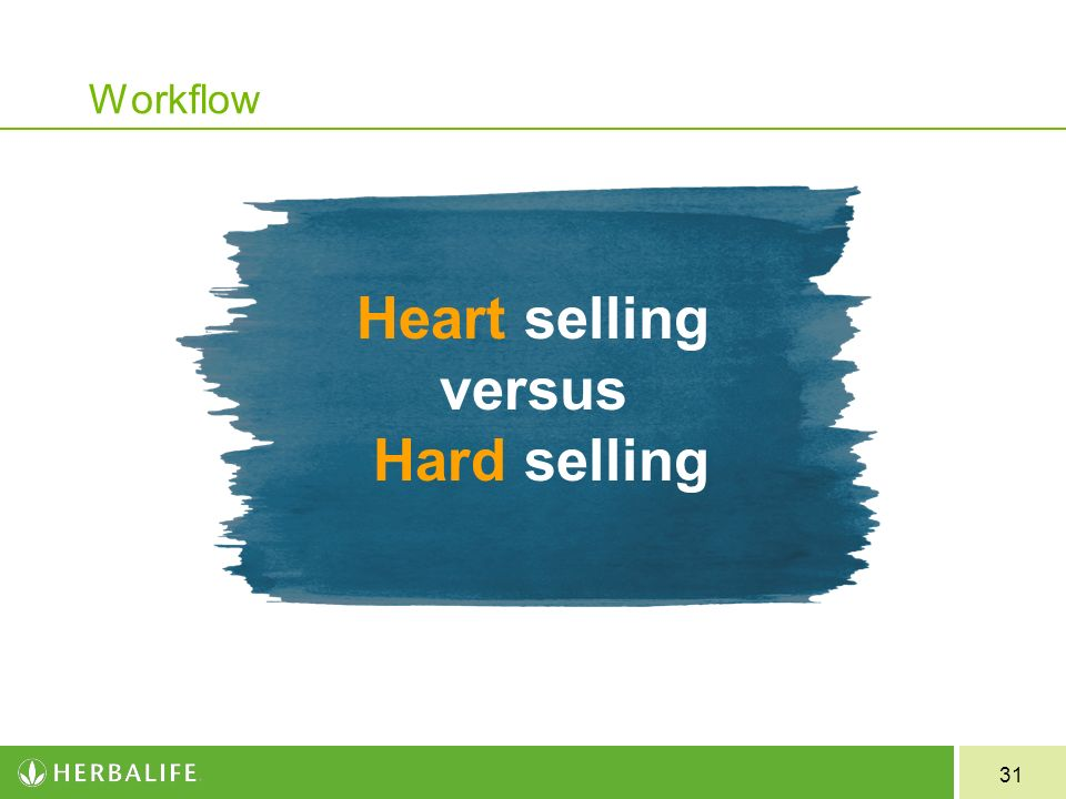 Heart selling versus Hard selling Workflow