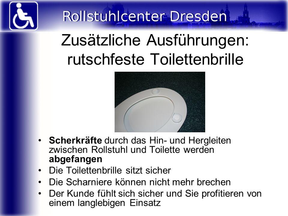 Zusätzliche Ausführungen: rutschfeste Toilettenbrille