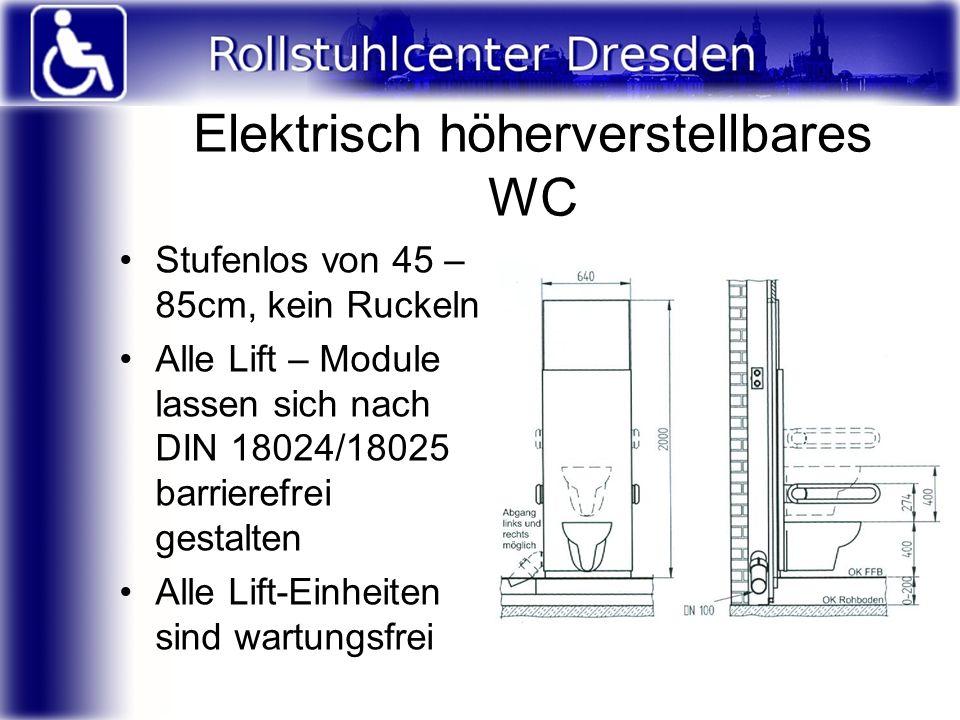 Elektrisch höherverstellbares WC