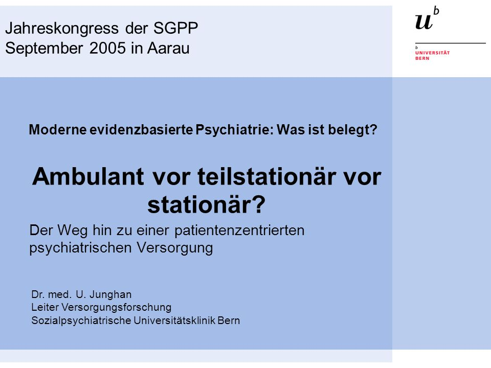 Moderne evidenzbasierte Psychiatrie: Was ist belegt