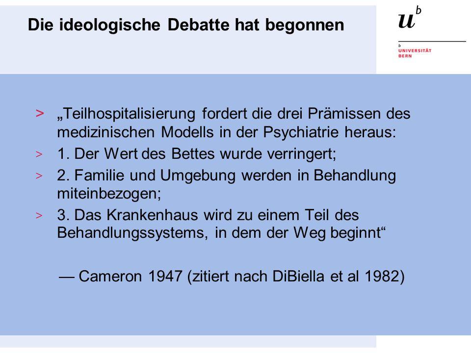Die ideologische Debatte hat begonnen