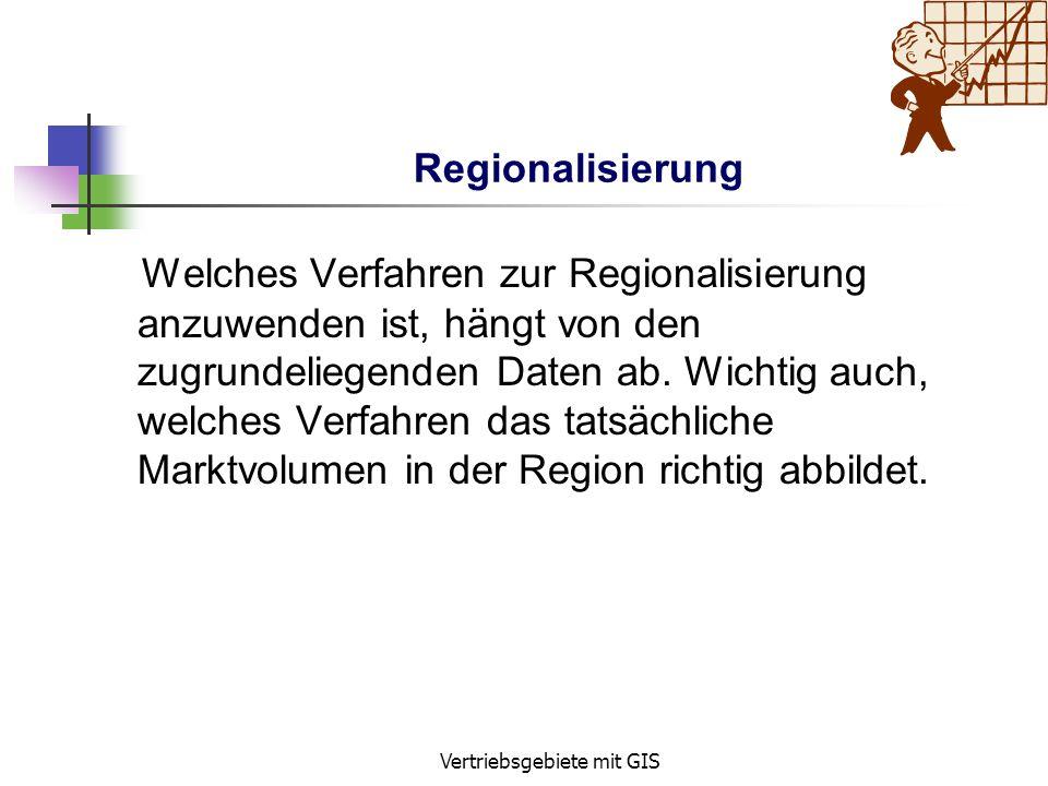 Vertriebsgebiete mit GIS