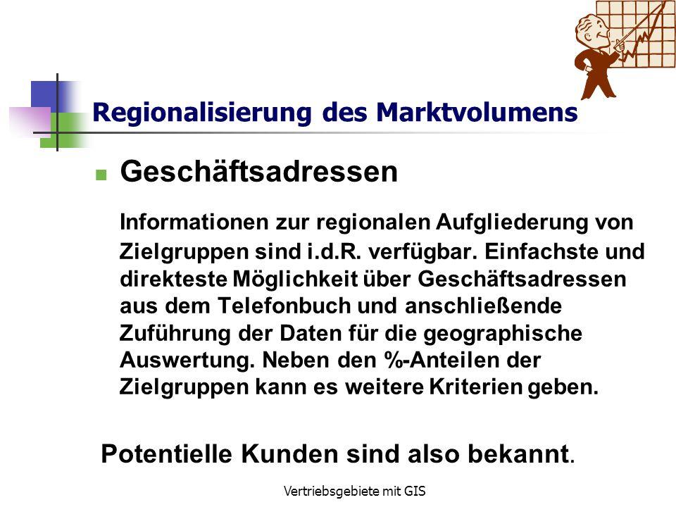 Regionalisierung des Marktvolumens