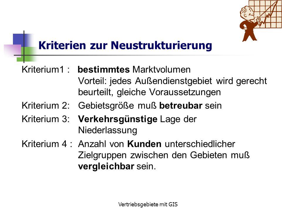 Kriterien zur Neustrukturierung
