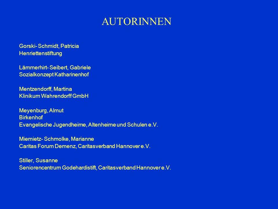 AUTORINNEN Gorski- Schmidt, Patricia Henriettenstiftung