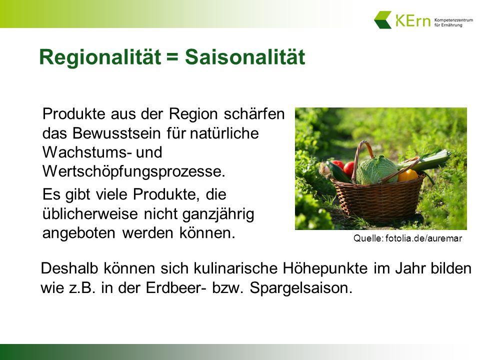 Regionalität = Saisonalität