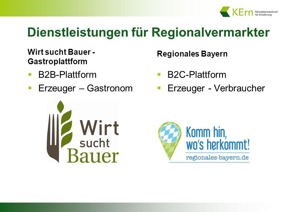 Dienstleistungen für Regionalvermarkter