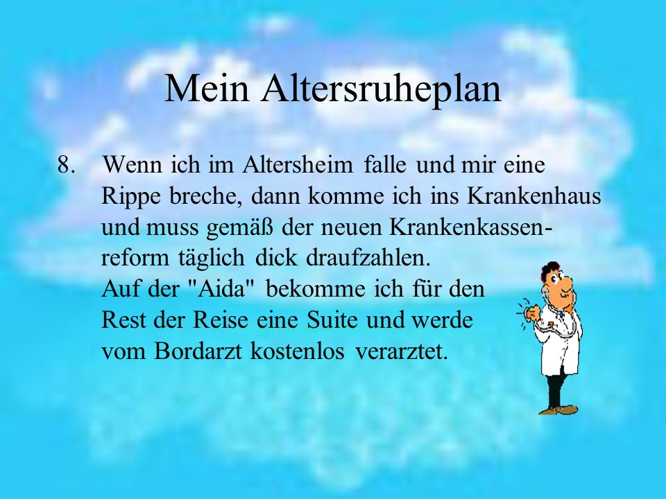 Mein Altersruheplan