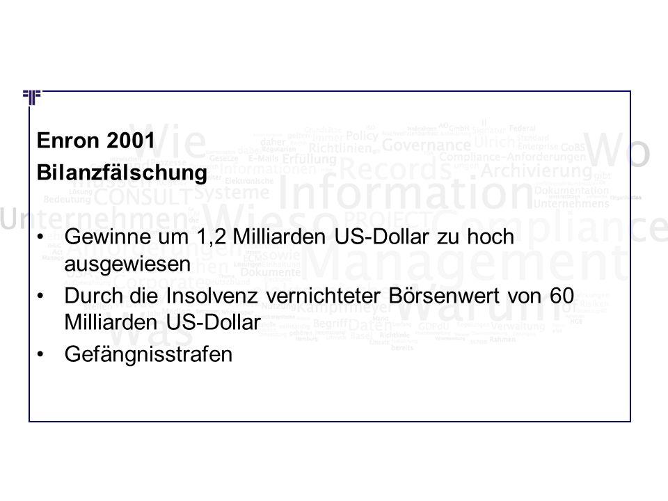 Wie Wo Was Enron 2001 Bilanzfälschung